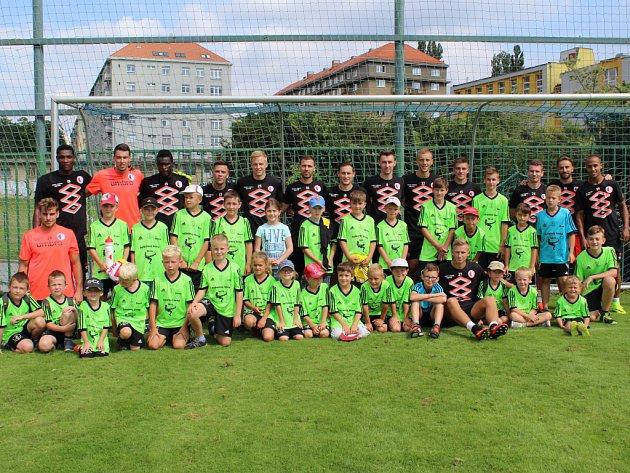 Návštěva fotbalové Slavie - srpen 2016