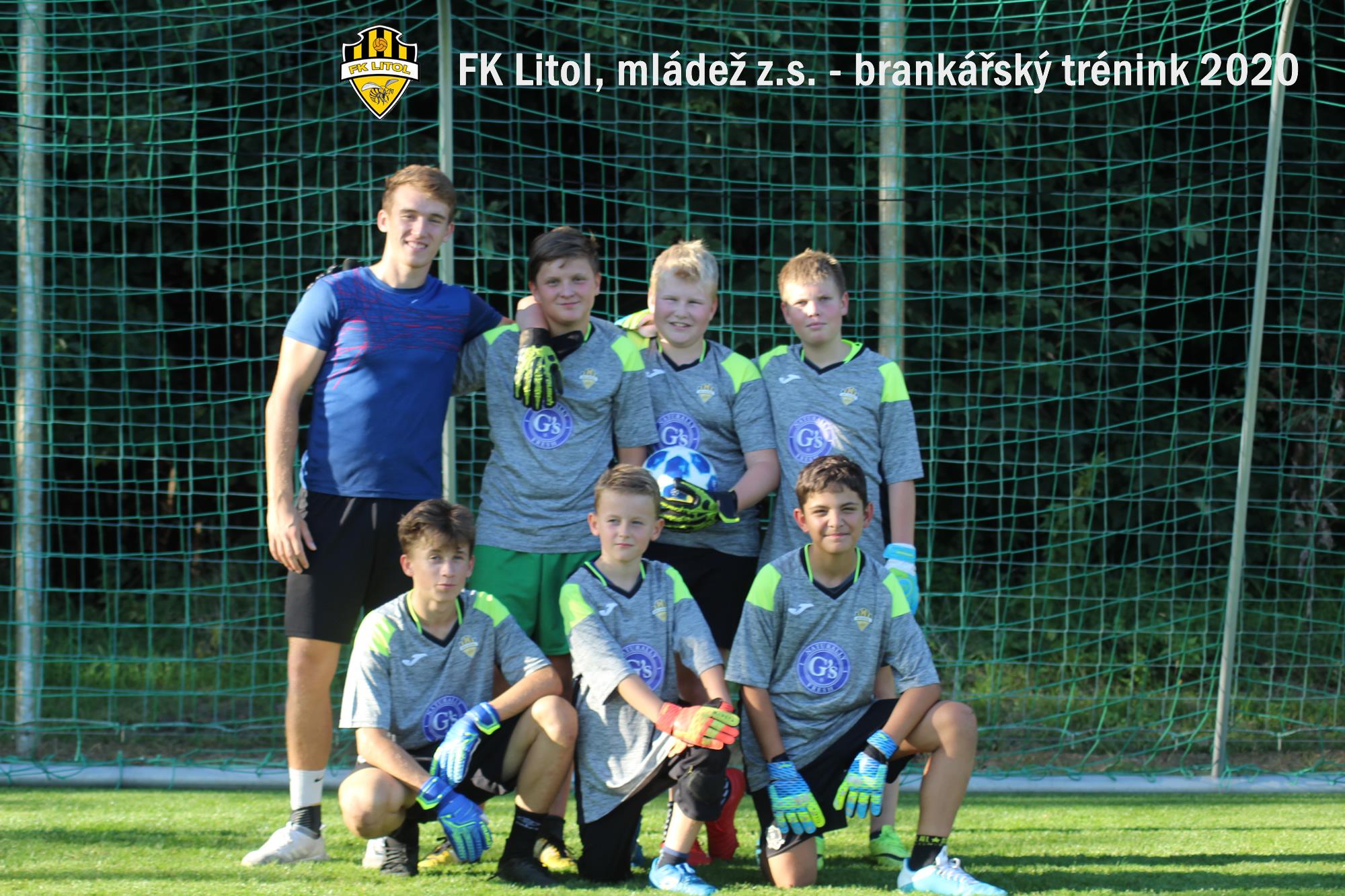 Brankářský tréninky - společné foto 09/2020